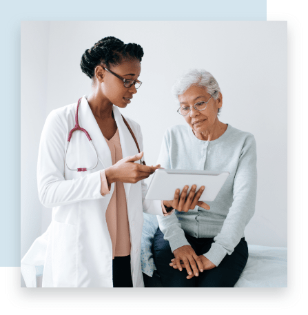 Doctor and Patient Discuss Heart Health at Bellevue