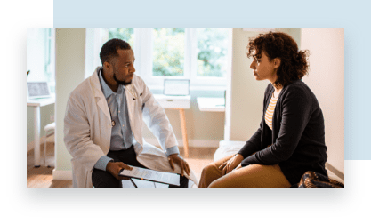Woman Discusses Hearth Health with Bellevue Doctor